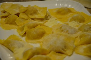 Pork paste & potatoes ravioli