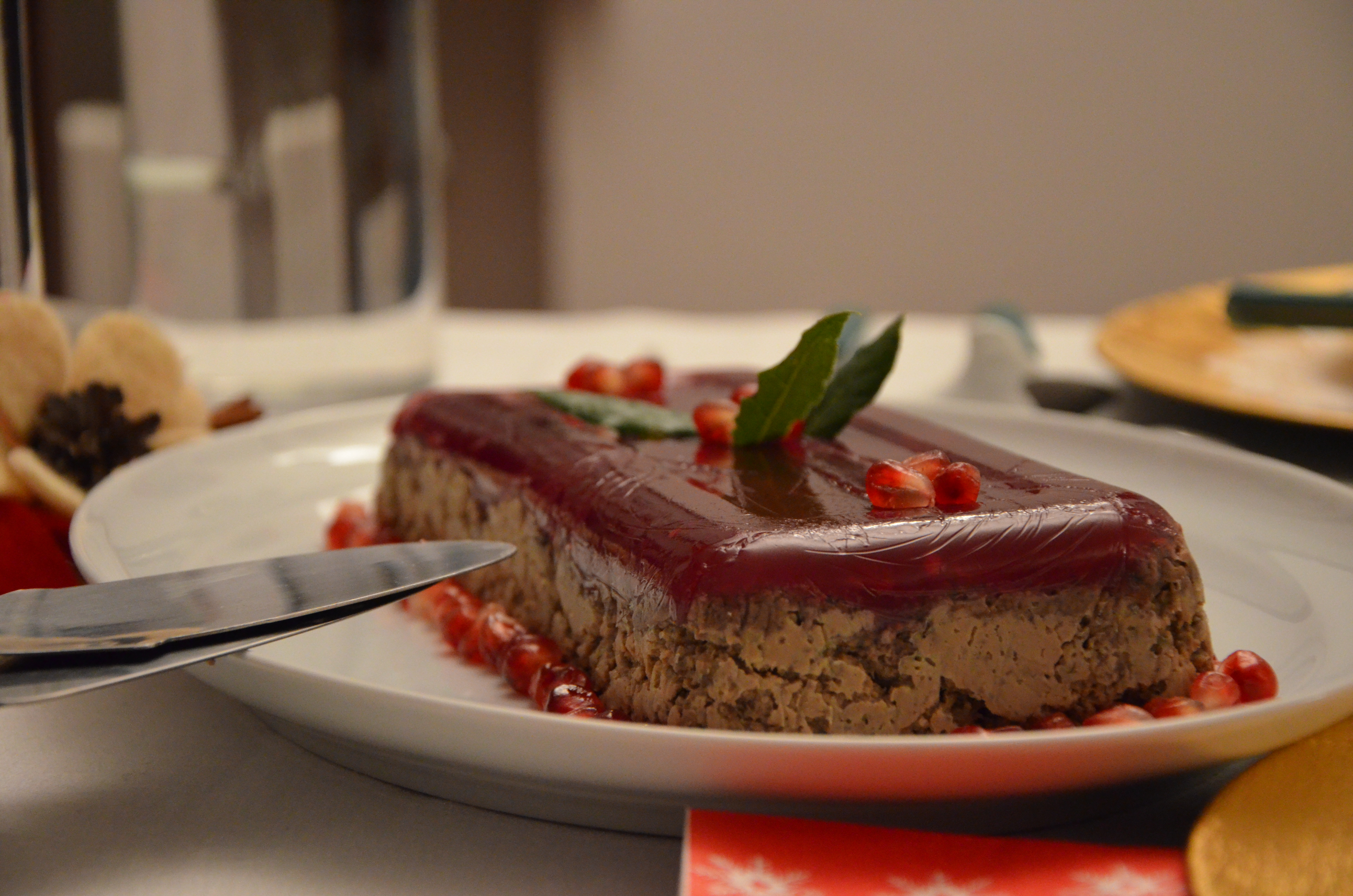 Liver pate with pomegranate jelly