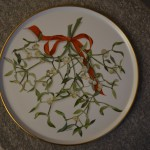 Christmas plate by my mom