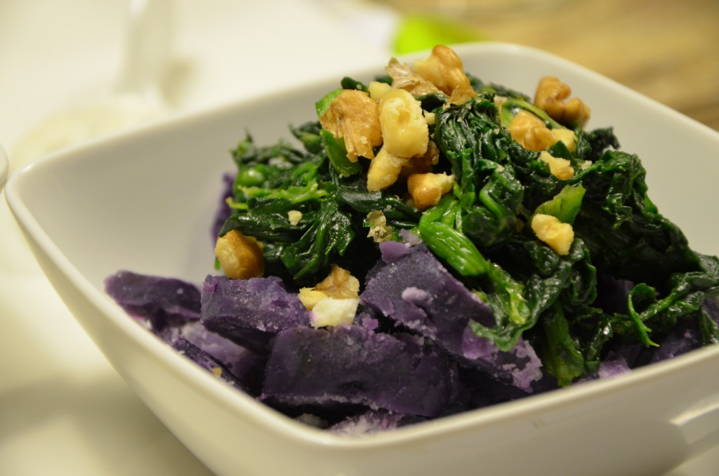 the purple and green salad