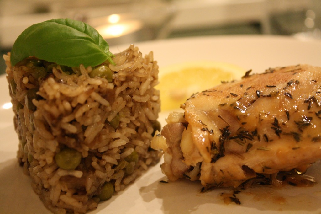 Lemon Chicken and Basmati Rice Cake with soy sauce (1)
