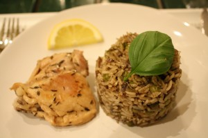 Lemon Chicken and Basmati Rice Cake with soy sauce (3)