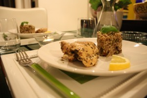 Lemon Chicken and Basmati Rice Cake with soy sauce (4)